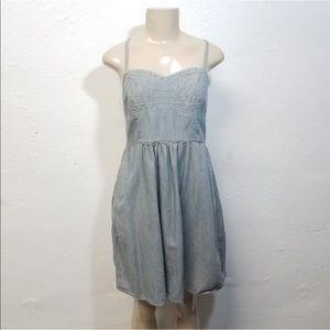 MOSSIMO Blue Denim Jean Cami Dress Large